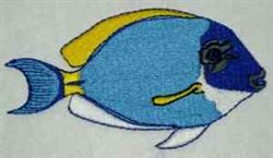 Blue Tropical Fish embroidery design