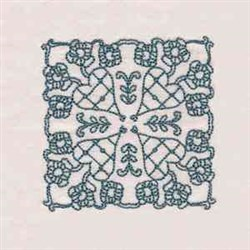 RW Rose Block embroidery design