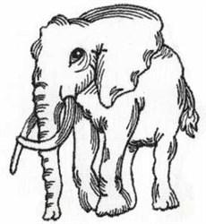 Redwork Elephant embroidery design