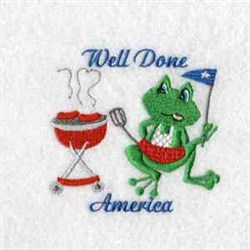 Well Done America embroidery design