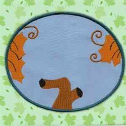 Tree Leaf Oval embroidery design