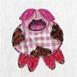 Applique Pig embroidery design