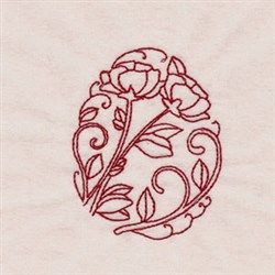 RW Floral Egg embroidery design