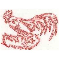 RW Cockrel embroidery design