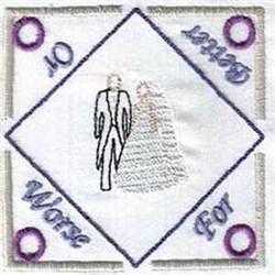 Wedding Tea Bag Holder embroidery design