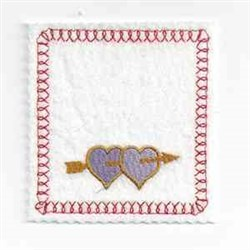 Valentine Bag Topper embroidery design
