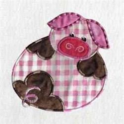 Applique Piggy embroidery design