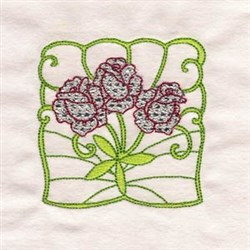 Rose Trio embroidery design