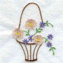 Flower Handbasket embroidery design