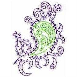 Swirly Paisley embroidery design