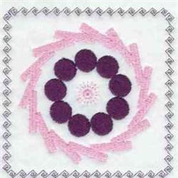Quilt Block Circles embroidery design