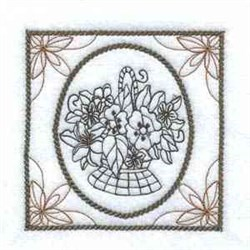 Framed Flowers embroidery design