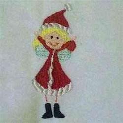Stick Xmas Fairy embroidery design