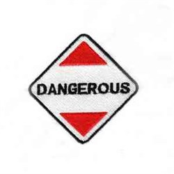 Dangerous Sign embroidery design