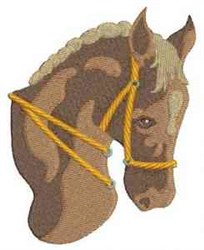 Horse With Bridle embroidery design