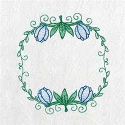 Dutch Tuilp Circle embroidery design