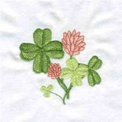 Lucky Clovers embroidery design
