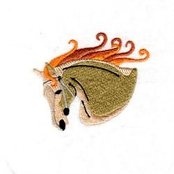 Swirl Horse Head embroidery design