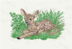 Bambi In Grass embroidery design