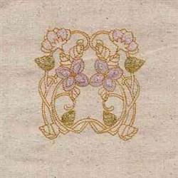 Noveau Floral embroidery design