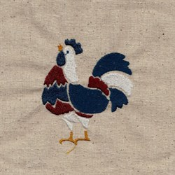 USA Rooster embroidery design