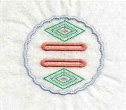 Diamond Tab embroidery design