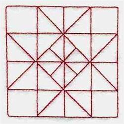Redword Square embroidery design