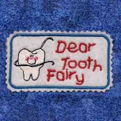 Tooth Tin Cover embroidery design