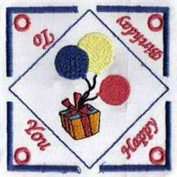 Birthday Tea Bag Holder embroidery design
