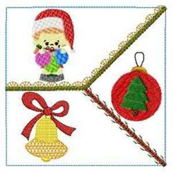 Holiday Quilt Block embroidery design