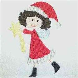 Holiday Fairy embroidery design