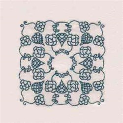 RW Flower Block embroidery design