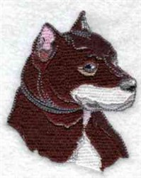 Realistic Dog embroidery design