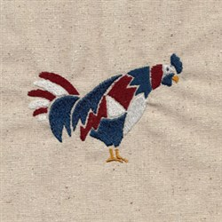 America Rooster embroidery design
