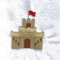 Sand Castle embroidery design