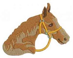 Stallion Head embroidery design