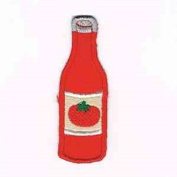 Ketchup Bottle embroidery design
