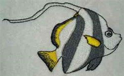 Tropical Angel Fish embroidery design