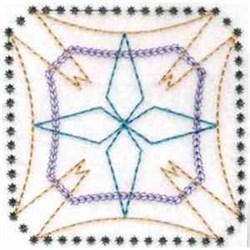 Geometric Diamond Block embroidery design