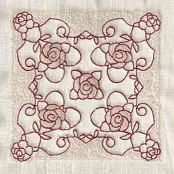 RW Rose Quilting embroidery design