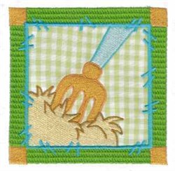 Pitchfork Quilt Block embroidery design