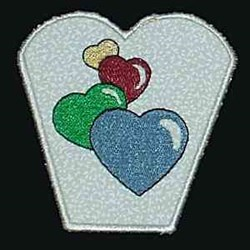 Heart Bowl embroidery design