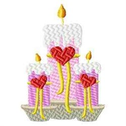 Valentine Candles embroidery design
