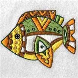 Australian Fish embroidery design