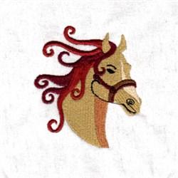 Swirly Horse Mane embroidery design