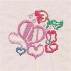 Love Hearts embroidery design