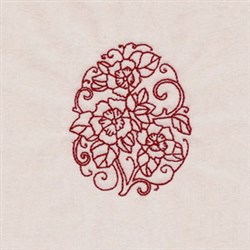 Floral RW Egg embroidery design