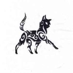 Tattoo Cat embroidery design