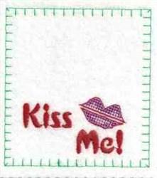 Kiss Me Bag Top embroidery design
