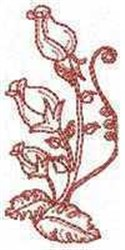 RW Rose Buds embroidery design
